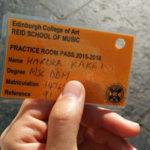 エディンバラ大学音楽練習室メンバーシップ申し込み。 イギリスでピアノを弾く。